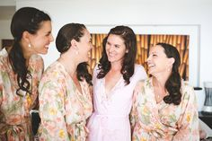 Bride Prep & Bridesmaids pic - cute pic with all the girls hair done, but still in dressing gowns / Sarongs