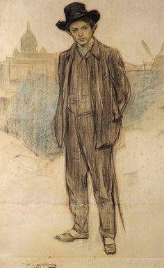 Retrato de Pablo Picasso. París, 1900. Museo Nacional de Arte de Cataluña, Barcelona