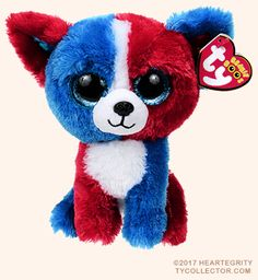 Valor, Ty Beanie Boo dog reference information and photograph. Beanie Boo Dogs, New Beanie Boos, Beanie Babies, Ty Beanie Boos Collection, Ty Peluche, Beanie Boo Party, Beanie Boo Birthdays, Ty Boos, Ty Stuffed Animals