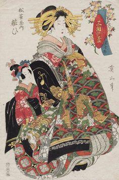 Yosooi of the Matsubaya. Ukiyo-e woodblock print, 1806, Japan, by artist Kikugawa Eizan.