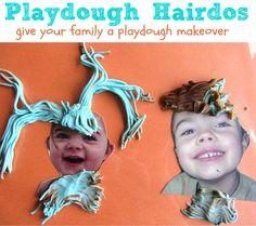 "Play Dough Play Mats – Silly Hairdos! ("",)"