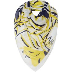 Kenzo Four tigers modal square scarf ($190) ❤ liked on Polyvore featuring accessories, scarves, navy, navy shawl, navy blue shawl, kenzo scarves, kenzo and navy blue scarves