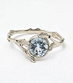 whoooeeey!-   Twig Ring with Aquamarine