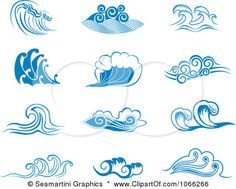 Clipart Sea Waves - Royalty Free Vector Illustration by Seamartini Graphics