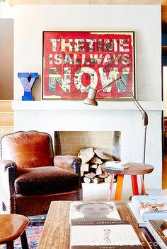 A cozy corner // Sophia Bush