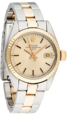 Shop Now - >  https://api.shopstyle.com/action/apiVisitRetailer?id=529608090&pid=uid6996-25233114-59 Rolex Date Watch  ...