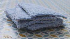 Lingette - tissu éponge bleu