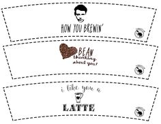 Coffee sleeve printables for Valentine's Day - 6 cute designs!