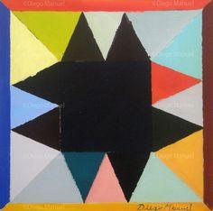 """""""Estrella negra"""" , acrylic on canvas, 30 x 30 cm,2013 . By Diego Manuel"""