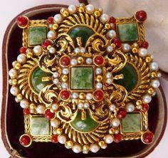 Jose Maria Barrera brooch pin  ornate Spanish cross  Spanish