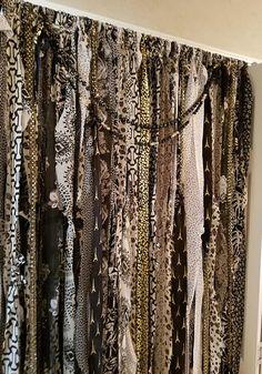 Reserved For Kristin Boho Curtains Door Gypsy Rag Black Gold White Bohemian Closet Hippie