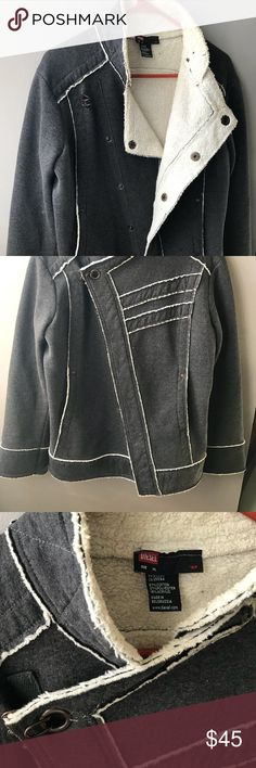 Diesel winter coat In beautiful used condition. Non smoking, no pets. Size xl but fits like a L. So warm and soft. Waist length. Diesel Jackets & Coats