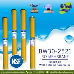 NSF certified 2521 Commercial ro membrane. http://www.hitechmembranes.com/product/bw30-2521-ro-membrane/