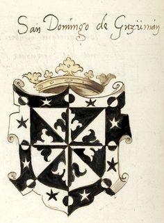 San Domingo de Guzüman (armes de Saint-Dominique de Guzman, fondateur de l'ordre des Dominicains) (f°69v) -- «Recueil de blasons peints», XVIe s., Paris [BNF Ms Fr 17256].