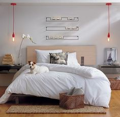 Modern Bedroom Furniture: Unique Beds and Dressers Modern Storage Furniture, Modern Bedroom Furniture, Wood Bedroom, Bedroom Decor, Bedroom Setup, Clean Bedroom, Bedroom Simple, Wall Mounted Storage Shelves, Shelves In Bedroom