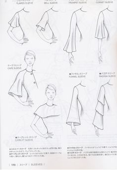 Guid to Fashion Design by Bunka fashion coollege (Japan)/ sleeves