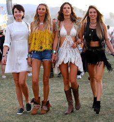 Alessandra Ambrosio au festival de Coachella