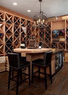 Modern Wine Cellar Detroit Smith - contemporary - wine cellar - detroit - Jeffrey King Interiors