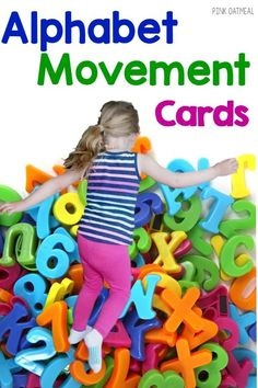 This is the best alphabet activity because it's such a fun way to learn the alphabet with movement. Could also be used for a brain break! Great for preschool gross motor and kinesthetic learners! Fine Motor Activities For Kids, Alphabet Activities, Infant Activities, Preschool Activities, Teaching Letters, Learning The Alphabet, Kids Learning, Kinesthetic Learning, Abc Phonics