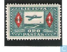 1921 Lithuania - Plane over Nemunas