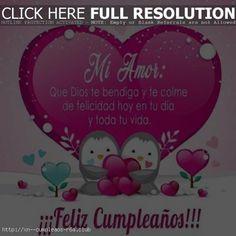 Saludos de cumpleaños Amor: aunque no estemos juntos Snoopy, Dado, Christmas Ornaments, Holiday Decor, Club, Frame, Character, Poem, Love Of My Life
