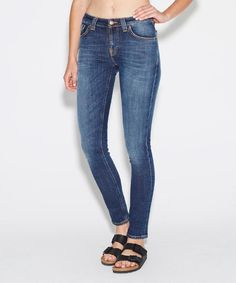 Nudie Jeans Co - SKINNY LIN JEAN NAVY FRIDAY BLUE