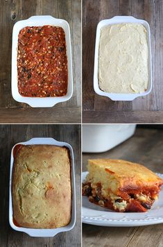 Gluten Free Tamale Pie - sub with ground turkey and leave out butter Gf Recipes, Gluten Free Recipes, Mexican Food Recipes, Cooking Recipes, Mexican Desserts, Freezer Recipes, Freezer Cooking, Drink Recipes, Cooking Tips
