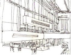 Urban sketchers show the world, one drawing at a time. Urban Sketchers, Tate Modern London, Barn Door Designs, Black Decor, Presentation Design, Logo Design Inspiration, Magazine Design, Portfolio Design, Typography Design