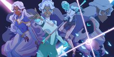 4 kinds of Allura by RustyArtist- SHE IS GOALS I WANNA BE HER
