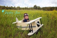 Little airplane mini session! This is a really fun theme with the little kids. Airplane photo prop, baby photography, aviation theme, aviator hat, Airplane mini session, Hayley June Photography, Calgary Maternity, newborn and baby photographer