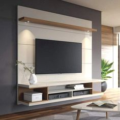 Most Popular DIY Entertainment Center Design Ideas For Living Room is part of Living Room TV Wall - A DIY entertainment center is an excellent method to house as well as store all your digital entertainment gadgets in an eyecatching manner It's a perfect Tv Unit Design, Tv Wall Design, Living Room Tv, Living Room Lighting, Bedroom Lighting, Apartment Living, Hallway Lighting, Kitchen Lighting, Apartment Ideas