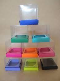 Resultado de imagem para caixa de acetato para cupcake