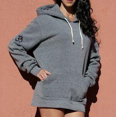 OM Symbol- Unisex Womens Mens Grey Black Red Navy Royal Cream Off White Eco #Fleece Pullover #Hoodie #Sweatshirt $55.00