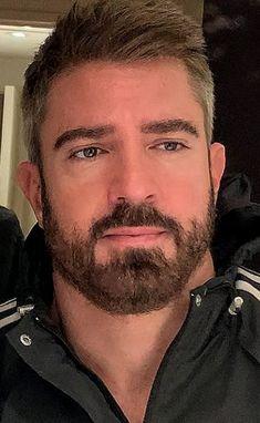 Mohawk Hairstyles Men, Boy Haircuts, Face Men, Male Face, Bearded Guys, I Love Beards, Hot Cops, Silver Foxes, Cute White Boys