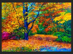 AUTUMN Painting Large painting Tree oil Painting by IvailoNikolov
