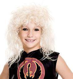 80s Rock Star Blonde Child Wig #halloween