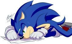 Because by Myly14 on deviantART I draw like that too sonic