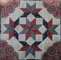 Hand pieced block from my Sarah Morell quilt