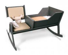 Hij is leuk! De Rockid is een schommelstoel en wieg ineen. Wat een goed idee van het Ontwerpduo uit Eindhoven. Niks lekkerder dan je kindje in slaap wiegen