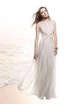 White BCBG Dress perfect for a beach themed wedding! #BCBG #BCBGMAXAZRIA   #SPRING