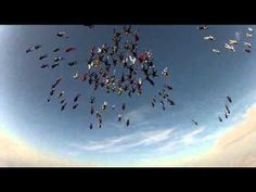 Raw Video: Record Skydive in Illinois