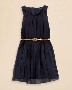 Ralph Lauren Childrenswear Girls' Pleated Dress - Sizes 7-16