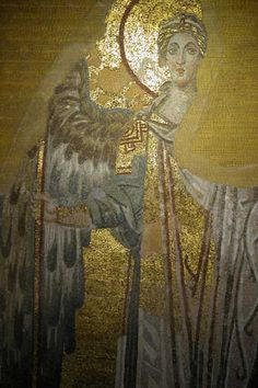 www.school.edu.ru :: Ангел. Мозаика конхи храма Св. Софии в Константинополе