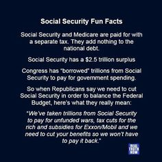 Everything Congress has told us about how Medicare and Social security are what's bankrupting us is a lie!