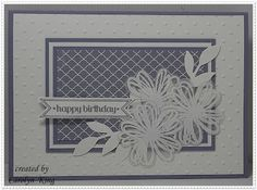 King's on Paddington: Flower Shop; white stamped flower shop set  on clear acrylic, and punched with posy punch