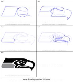 How to Draw Seattle Seahawks Logo step by step printable drawing sheet to print. Learn How to Draw Seattle Seahawks Logo Seattle Seahwaks, Seattle Seahawks Logo, Draw Logo, Drawing Sheet, Step By Step Drawing, Canvas Patterns, Learn To Draw, Rock Art, Weed