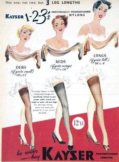 hollyhocksandtulips:  Kayser Stockings