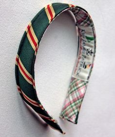 """fitting- this red, buff and green headband is called """"Audrey Hepburn"""". classy."""