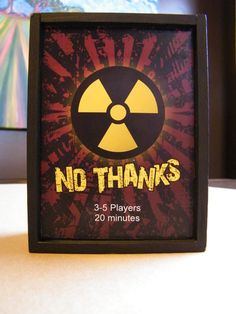 Close up of the box I made for my version of No Thanks.