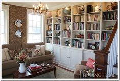 Don't like how traditional this is, but I'd love a wall of bookcases in a formal living room